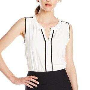 Women's split neck top